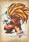 "Poster Dragon Ball ""Wanted"" Goku SS3 - A3 (42x30 cm)"