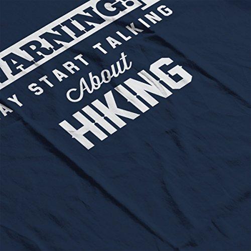 Warning May Start Talking About Hiking Men's Hooded Sweatshirt Navy blue