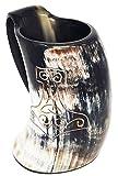 Pulido mano de Thor grabado artesanal XL hecho a mano Juego de tronos de 6 pulgadas estilo taza de bebida Jarra de cerveza vikingo / taza de vino 20 oz