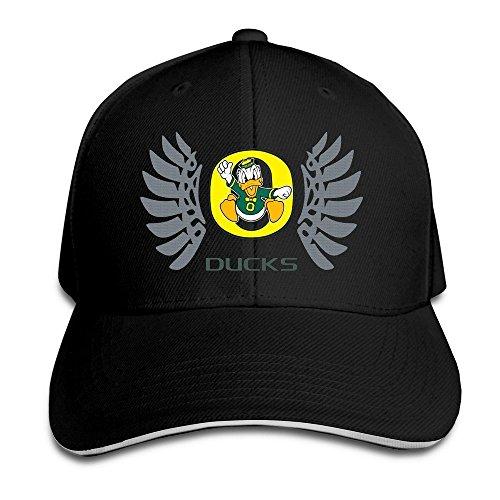 Hittings Oregon Wings Ducks Peaked Baseball Hat Red Black