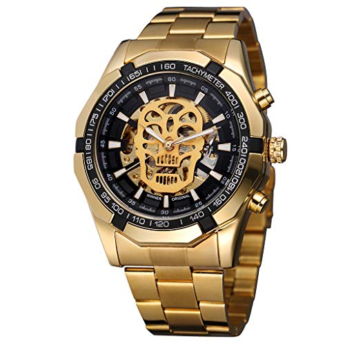Laile Herren Mechanische Uhr Sport Wasserdicht Watch Hollow Demon Dial Design Business Fashion Outdoor Camping Runde Zifferblat Premium Watch -