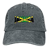 Mens/Womens Jamaica Icon Denim Cap Baseball Cap Cotton Black