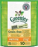 Greenies Original tägliche Zahnpflegesnacks Petite Grainfree, getreidefreie Hundeleckerli zur täglichen Zahnreinigung für kleine Hunde von 8-11kg, 2 Packungen (2 x 170g)