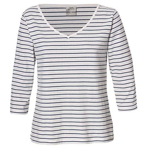 Trespass Women' s Melrose Top, Donna, Melrose, Weiß - Ghost Stripe, M