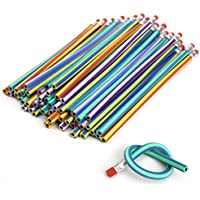 50pcs flexible Bendy Pencils curva de Magic Kids Niños Escuela Diversión Equipo