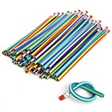 50 Stück Bleistifte, gebogen, Soft Magic, flexibel, gebogen, für Kinder, Schule Ausrüstung