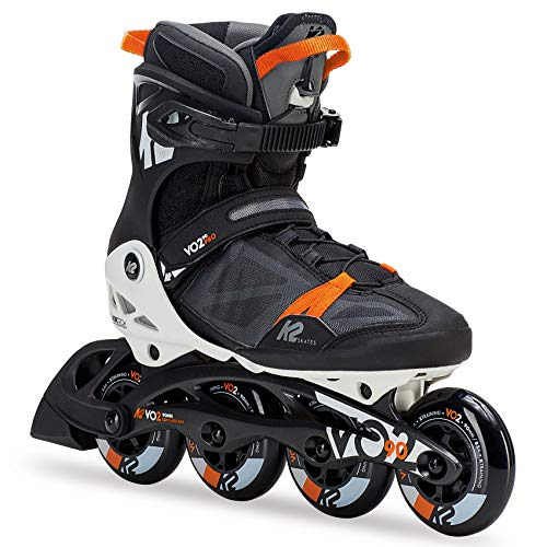 K2 Herren Fitness Inline Skates VO2 90 Pro M - Schwarz-Orange - EU: 43.5 (US: 10 - UK: 9) - 30C0017.1.1.100