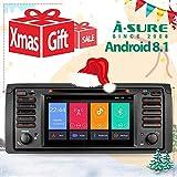 A-SURE Android 8.1/8.0 DVD GPS Autoradio Radio für BMW E39 E53 Unterstützt Bluetooth DAB + DVR Mirrorlink WLAN 4G USB CD DVD Android Auto MicroSD Aux 7 Zoll Bildschirm KUE39J