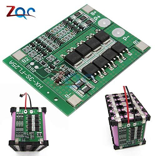 3S 25A Li-Ion 18650 BMS PCM BatterieSchutz-Board BMS PCM mit Balance für Li-Ion Lipo Akku-Cell Pack Modul 12V