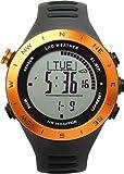 [LAD WEATHER] Deutscher Sensor, Herzfrequenzmesser Chronograph Distanz, Geschwindigkeit, Schritte/Kalorien Multifunktionale Armbanduhr