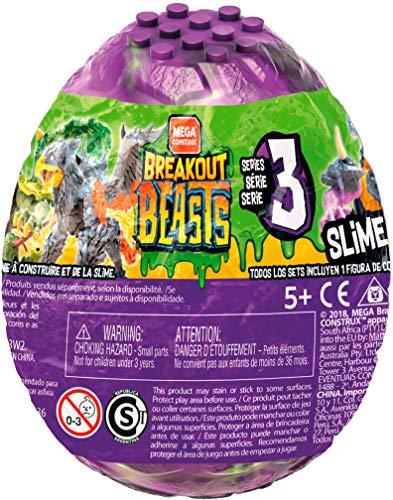 - Breakout Beasts Mix 3, je 1 Überraschungs Monster zum Zusammenbauen im lila Ei mit Schleim, zufällige Auswahl, Slime Spielzeug ab 5 Jahren ()