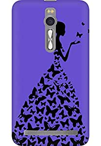 AMEZ designer printed 3d premium high quality back case cover for Asus Zenfone 2 (bright purple princess)