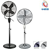 "G4RCE Pedestal Fan Floor Standing Air Fan 16"" Oscillating with Remote Control + 7 Hours Timer Remote 3 Modes Speed Refresher Room for Home Office Etc (Gun Metal)"