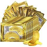Crystal 24K Gold Collagen Eye Mask (25 Paia), Gel Premium Anti Aging, Anti rughe, Idratante per rughe sotto gli occhi, Rimuov