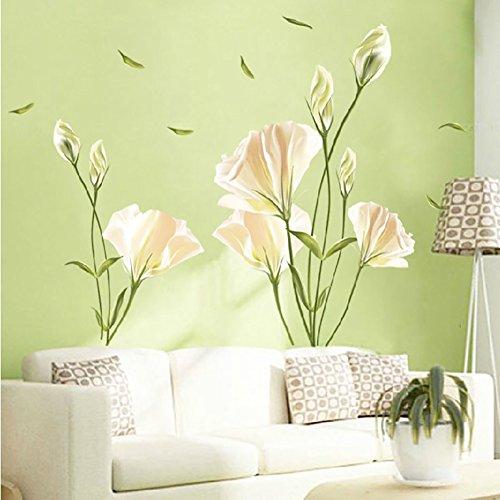 Wandsticker4u - adesivo da parete floreale. decorazione per soggiorno, camera da letto, guardaroba, cucina, corridoio, xl
