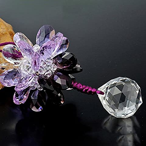 Yacn Cut Crystal Snowflake Ornament Iridescent Pendant for Car Wall Hanging Decoration