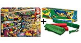 Pack Puzzle Educa 17128. Tienda de Comestibles. 2000 piezas + Tapete universal Puzzle Roll 4808/49267
