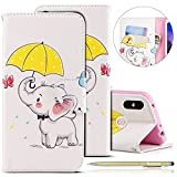 Herbests Cover Xiaomi Redmi Note 5, Custodia Xiaomi Redmi Note 5 PU Pelle Colorato Dipinto Flip Stand Wallet Cover Case Libro Stile PU Leather Custodia (Porta Carte di Credito e Chiusura Magnetica)
