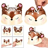 Winkey 2018 Newest Slow Rising Squishies Jumbo Toy, 10CM Squishy Jumbo Deer Cake Slow Rising Scented Squeeze Toy Collection Cure Gift