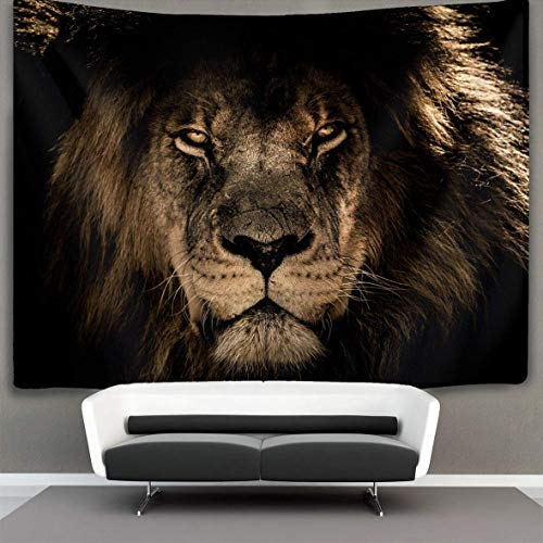 ique Design Wonderful Prints African Lion King Mane Wall Tapestry Hippie Art Tapestry Wall Hanging Home Decor Extra Large tablecloths 60x90 inches Bedroom Living Room Dorm Room ()