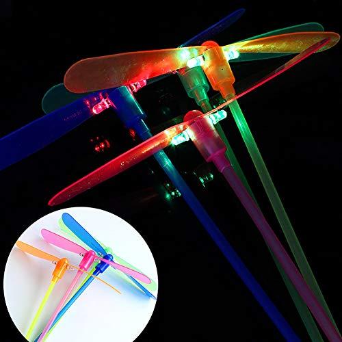 Derkoly Fashion Fluorescent Plastic Dragonfly Kids Children Toy Festival Party Supply-Random Color