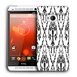 Snoogg Floral Grey Pattern Printed Protective Phone Back Case Cover For HTC One M7