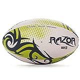 OPTIMUM pour Homme Razor Ballon de Rugby, Noir/Jaune, Taille 5
