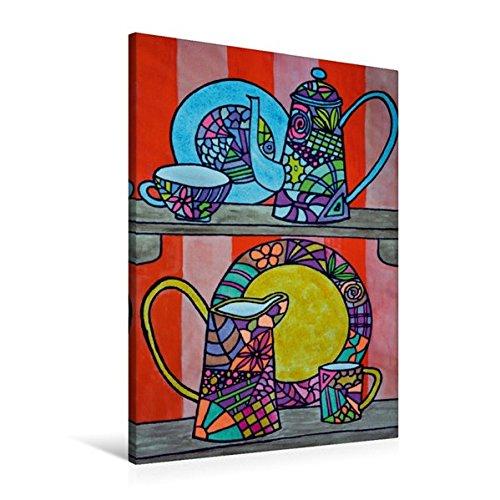 Calvendo Premium Textil-Leinwand 60 cm x 90 cm hoch, Ein Motiv aus Dem Kalender De Hessisch-Kalenner - hessisch babbele Lerne in aam Johr | Wandbild, Bild auf Leinwand, Leinwanddruck Kunst Kunst