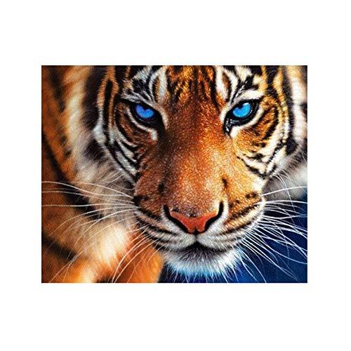 AchidistviQ Diamant Animal Tiger DIY Full Bohrer Kunstharz Diamant Gemälde Kreuzstich Stickerei Decor Multi