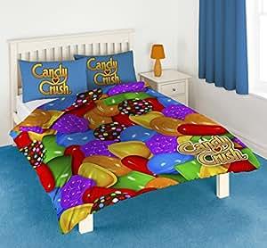 Candy Crush Parure de lit 50% polyester 50% coton Multicolore Lit 2 personnes 200 x 200 cm