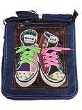 LOOKID 5006 coole Umhängetasche für Schule und Freizeit 25x28x8 (blau klein)