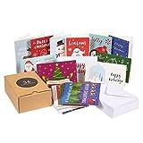 36-pack Merry Christmas Cartes de vœux Bulk Box Set–Assortiment de cartes de vœux de Noël Vacances d'hiver dans 36Adorable Designs, enveloppes incluses, 10,2x 15,2cm...