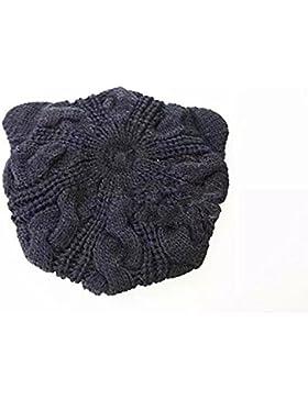 Autunno e inverno lana Beret mantello cappello orecchie di gatto lana canapa Berretto Invernale Caldo Cappello...