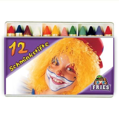 Schminkstifte 12er Box Karnevals - Schminke Faschingfarbe