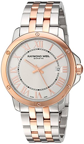 Raymond Weil Herren 'Tango' Swiss Quarz Edelstahl Kleid Uhr, Farbe: zweifarbig (Modell: 5591-sb5–00658)