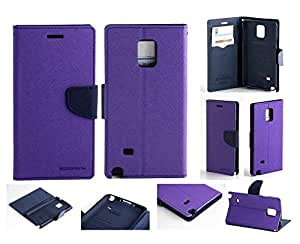 Aart Fancy Diary Card Wallet Flip Case Back Cover For Micromax A106 - (Purple) + 360 Rotating Bed Tablet Moblie Phone Holder Universal Car Holder Stand Lazy Bed Desktop for by Aart store.