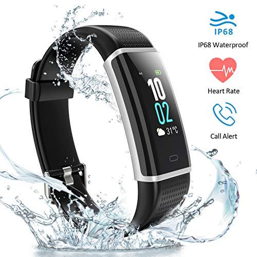 HUTbIT Fitness Tracker, Fitness Braccialetto Schermo a Colori Watch Bracciale Cardiofrequenzimetro da Polso Smartwatch Pedometro Impermeabile IP68 Bluetooth per Android iOS Smartphone
