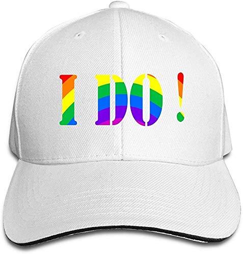 I Do Gay & Lesbian Cool Hip Hop Adult Unisex Cap White