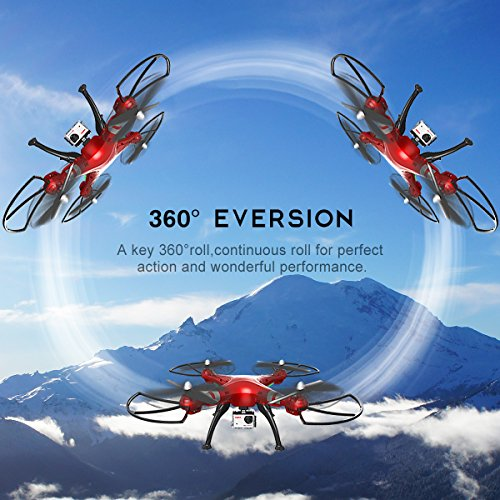 Syma X8HG (Upgrade Syma X8G) 2,4 GHz 6-Achsen-Gyro RC Ferngesteuerte Quadcopter Drone Quadrocopter Drohne mit 8MP HD-Kamera Einen Höhenstabilisator-Rote - 5