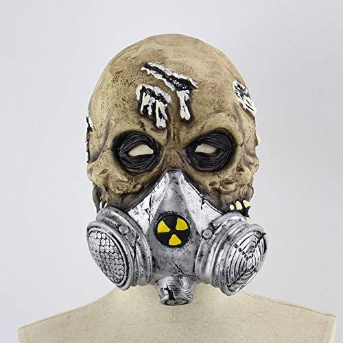 Edelehu Biochemie Halloween Maske Scary Gruselige Horror Cosplay Kostüm Bandana Latex Scary Kopf Zombie Maske