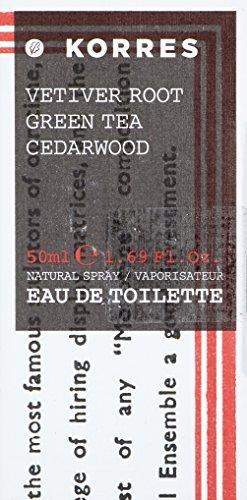 Korres Vetiver Root Green Tea Cedarwood Eau de Toilette für Ihn, 50ml