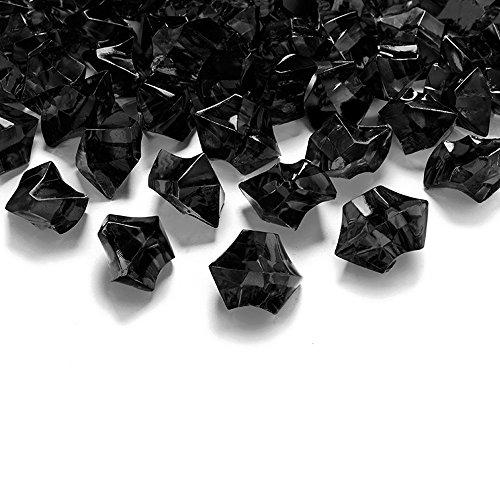 50 Kristall-Steine Schwarz 25 mm – Eis Deko Streudeko Diamanten Tischdeko
