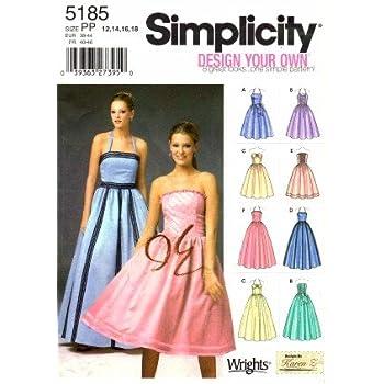 Simplicity 5185 Schnittmuster Schnittmuster Formale Neckholder Stil ...
