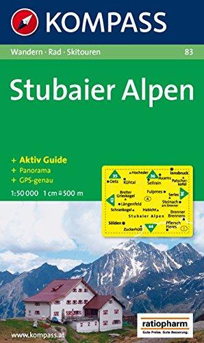 Stubaier Alpen: Wander-, Bike- und Skitourenkarte. Mit Panorama. GPS-genau. 1:50.000 -