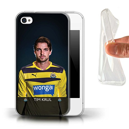 Offiziell Newcastle United FC Hülle / Gel TPU Case für Apple iPhone 4/4S / Pack 25pcs Muster / NUFC Fussballspieler 15/16 Kollektion Krul