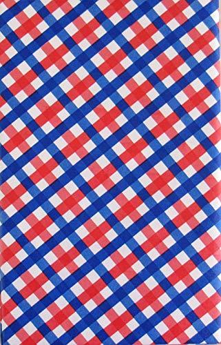Tischdecke aus Flanell, kariert, Rot/Weiß/Blau 52