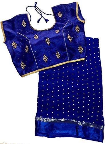 Balaji Fashion Brocade & Georgette Saree (D.No Dvs 5004_Multi-Coloured)
