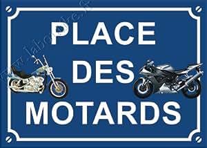 Magephi Plaque métal place des motards