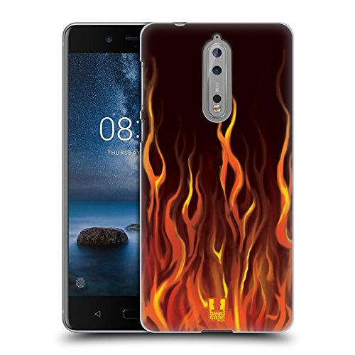 Head Case Designs Inferno Hot Rod Flamme Ruckseite Hülle für Nokia 8