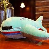 POPRY Flugzeuge Rocket Car Stereo kreative Kissen Kissen Dekoration Plüsch Spielzeug Jungen Geburtstag Geschenk, Grün, 60 cm